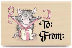 【輸入スタンプ】House-Mouse*To-From(ハウスマウスの輸入スタンプ)*ねずみ*プレゼント*カード