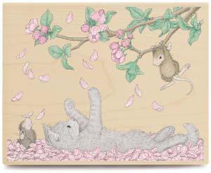 【輸入スタンプ】House-Mouse桜吹雪だニャ(ハウスマウス輸入スタンプ)【レターパック350円〜】
