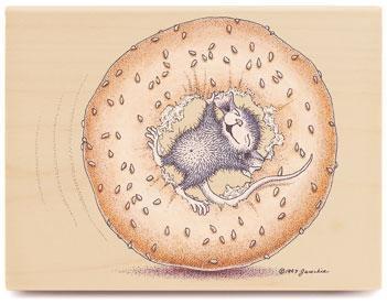 【輸入スタンプ】House-Mouseベーグルでコロコロ(ハウスマウス輸入スタンプ)【レターパック350円〜】