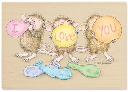 【送料350円〜】【輸入スタンプ】House-Mouse*I Love you風船【ハウスマウス】【輸入ラバースタンプ】