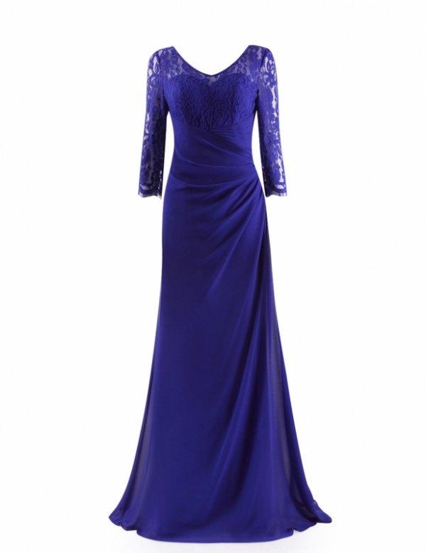 6カラー パーティードレス 演奏会 袖付き 大きいサイズ ロングドレス