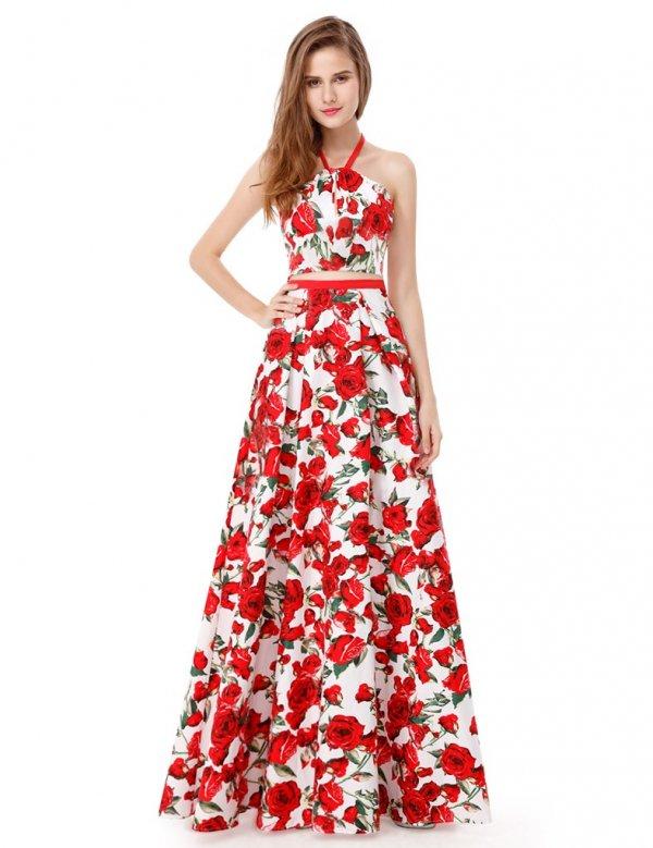 パーティードレス  カラフル ロングドレス