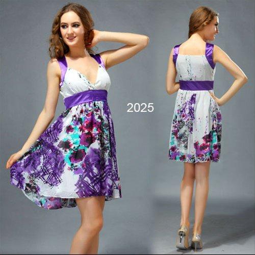 2色から選べます! 孔雀模様が特徴! カクテルショートドレス♪