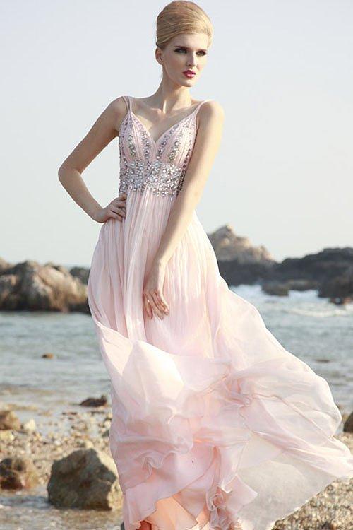 淡いピンクのプリンセスロングドレス♪