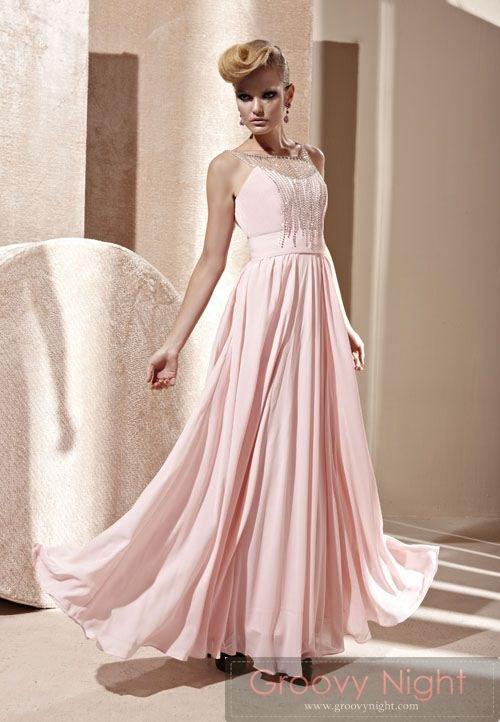 お姫様気分で気分上々な可愛いピンクロングドレス♪
