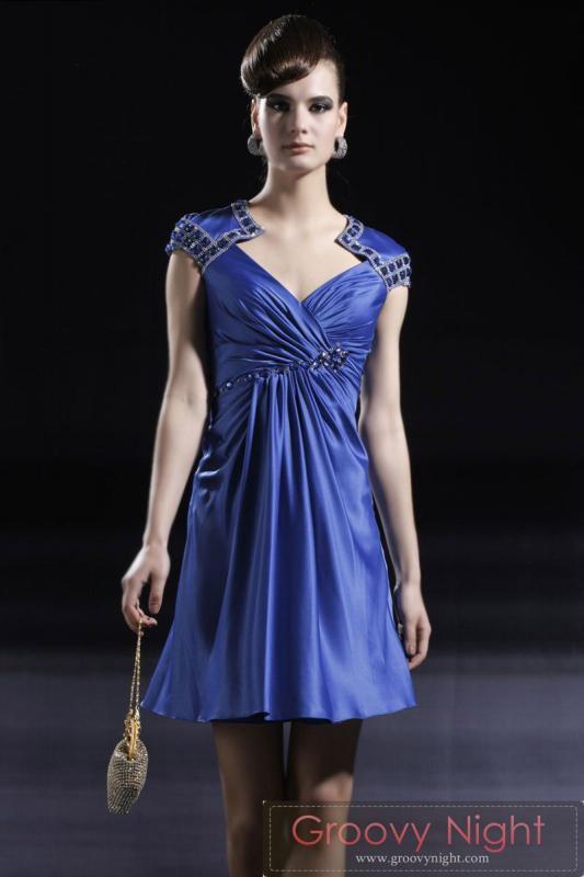 海外トレンドのショルダーとバックデザインがイイ 最先端ショートドレス♪