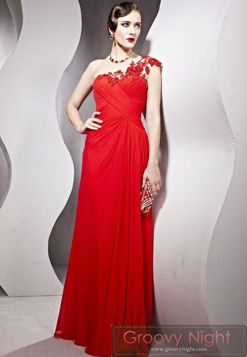 流れるようなイタリアンレッドがCOOLなロングドレス♪