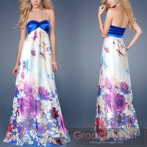 女子力UPの可愛いフラワーロングドレス♪