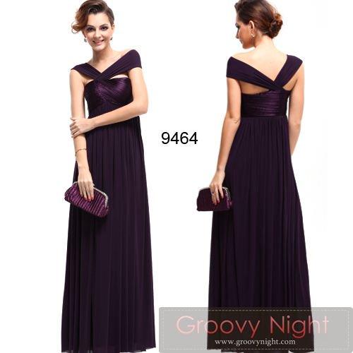 要在庫確認です。 3色から選べる!!斬新なクロススタイル シルエットも美しいロングドレス♪