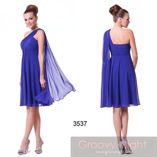 4色から選べます! SEXYなワンショルダーショートドレス♪