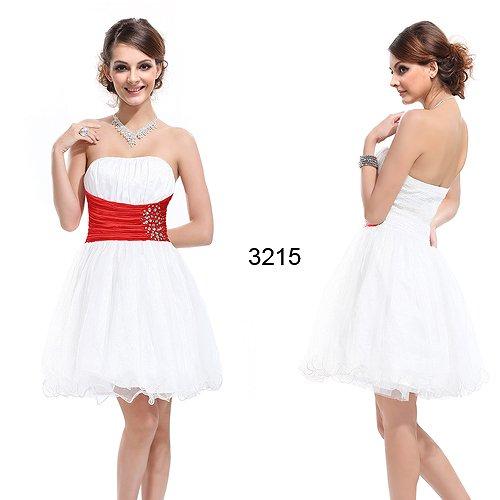 3カラー!!ウエストを細く見せるデザイン お嬢様系ショートドレス♪