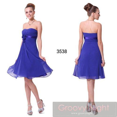フンワリ鮮やかブルーが最高にCUTEなショートドレス♪