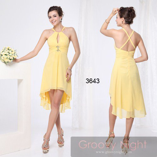3カラーから選べます! 華やかな色合いで魅力引き立つショートドレス♪
