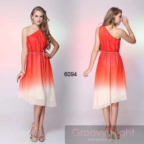 綺麗なグラデーションカラー♪女神のようなアフロディーテミディアムドレス♪