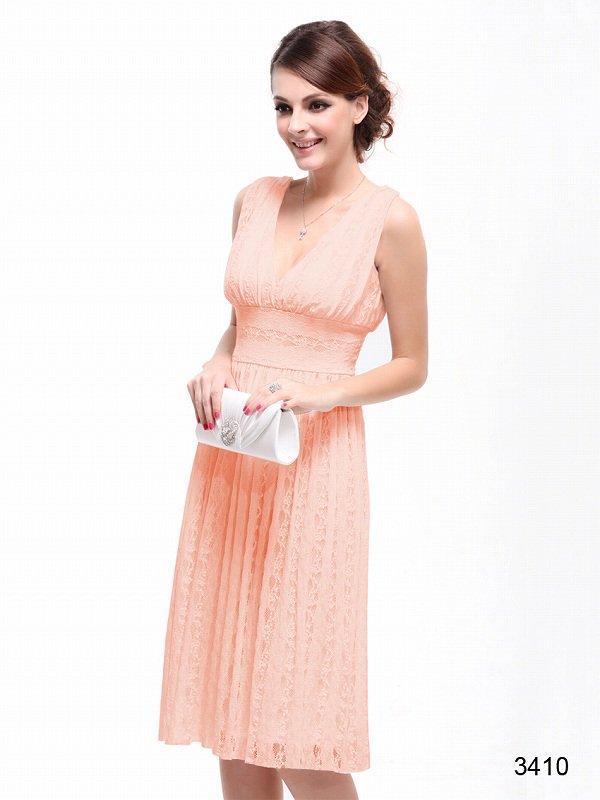 4色から選べます!CUTEなミディアム丈ドレス♪