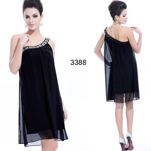 4色から選べる!! ゆったり着れるデザインのショートドレス♪