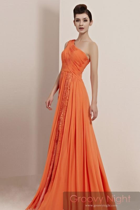 輝くSUNSUNオレンジ!! 周りを照らす高級ロングドレス♪