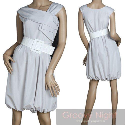 ヴィンテージグレイのショートドレス♪(3サイズ)