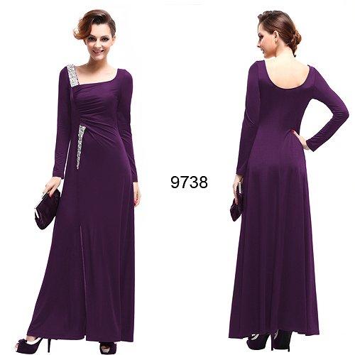 袖つき☆ スリットセクシーなロングドレス♪(3カラー)
