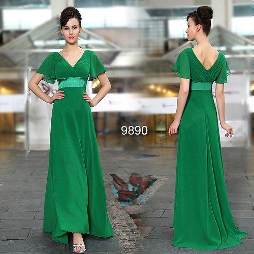 3カラーから選べます! 袖付き ロングテールの系ロングドレス