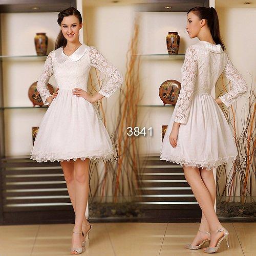 ロングスリーブ☆ お嬢様ホワイトショートドレス♪