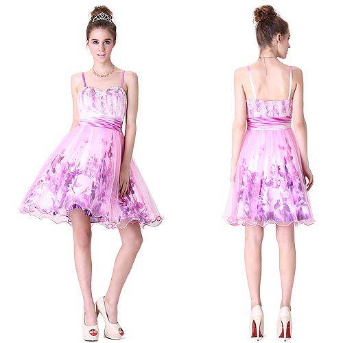 淡いピンクのPARTYショートドレス♪