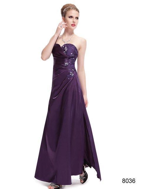エレガントパープルでキメる ワンショルダーイブニングロングドレス♪
