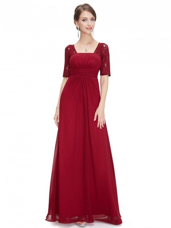 2カラーから選べます ファッションスリーブのロングドレス