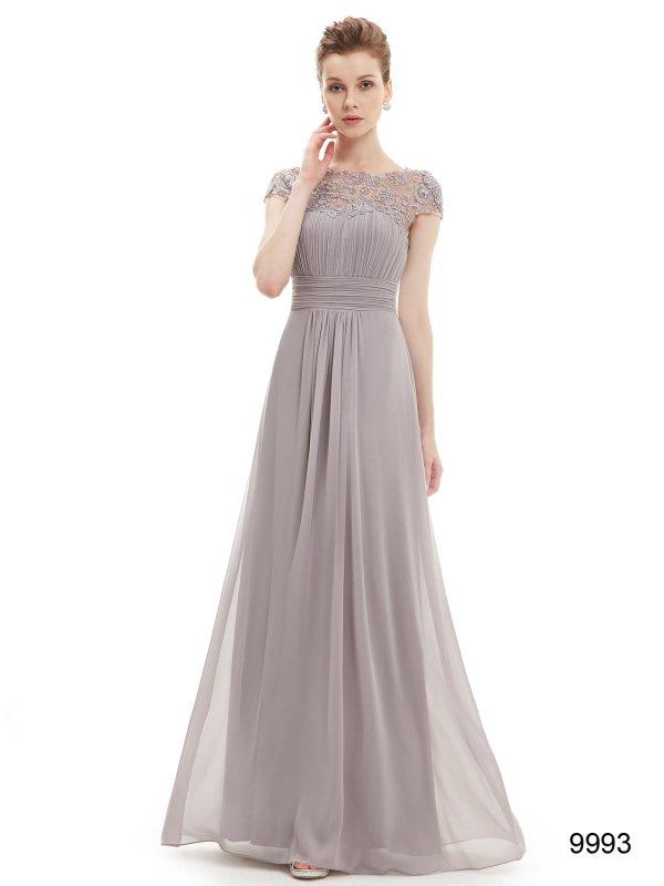 945138f43537f グレー袖付きのパーティーロングドレス - パーティードレス 演奏会ドレス 袖付きデザイン|ドレスショップ グルービーナイト