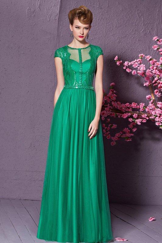 高級ロングドレス グリーン