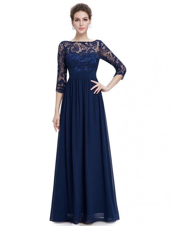 3カラーから選べます エレガント 袖付きロングドレス