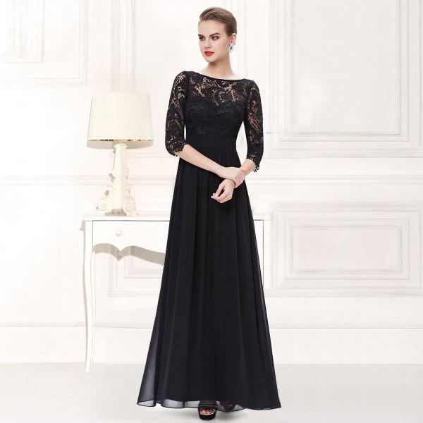 袖付きロングドレス 4カラーから選べます