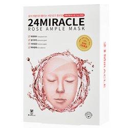 【24MIRACLE】ローズ アンプル マスク 25ml*10枚