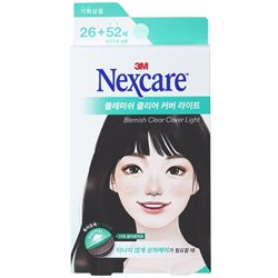ネクスケア(Nexcare)ブレミッシュ クリア カバー ライト (ニキビパッチ) 26+52枚
