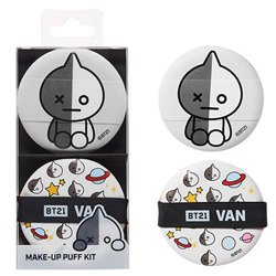 【OLIVE YOUNG】BT21 VAN メイクアップ パフ キット 2個入り