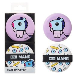 【OLIVE YOUNG】BT21 MANG メイクアップ パフ キット 2個入り