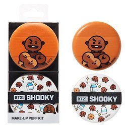 BTS(防弾少年団) オリーブヤング(OLIVE YOUNG)BT21 SHOOKY メイクアップ パフ キット 2個入り