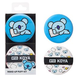 【OLIVE YOUNG】BT21 KOYA メイクアップ パフ キット 2個入り