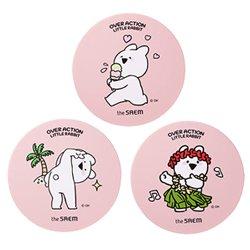 韓国コラボコスメザ セム(the saem)オーバーアクションウサギ エコ ソウル パワー ステイ クッション ケース
