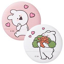 韓国コラボコスメザ セム(the saem)オーバーアクションウサギ クッション パフ (01 ラブアクション) 2P