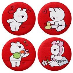 韓国コラボコスメザ セム(the saem)オーバーアクションウサギ ラブミー クッション パフ 2P