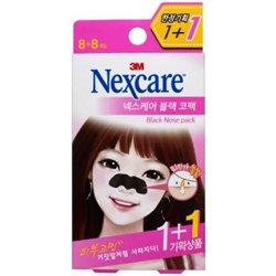 【Nexcare】ブレミッシュ クリア 鼻パック ブラック 8+8枚