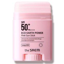 【the saem】エコ アース パワー ピンク サン スティック SPF50+/PA+++ 17g