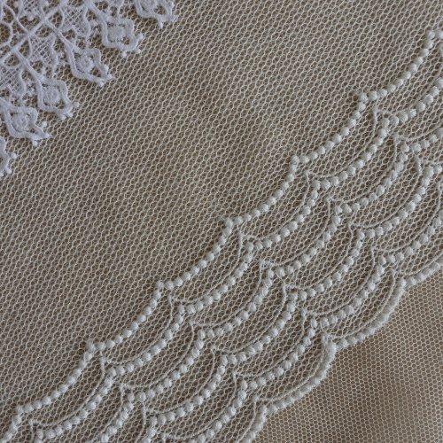綿刺繍チュール 2タイプ