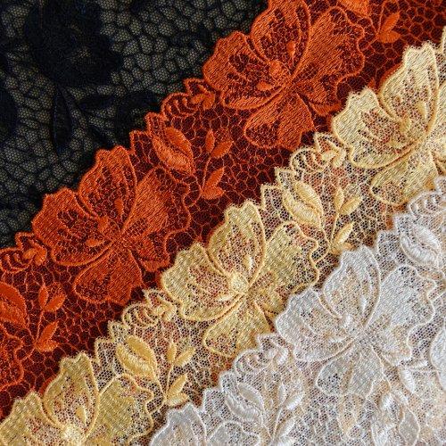 刺繍レース 22cm巾
