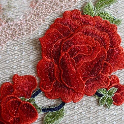 刺繡モチーフ バラ
