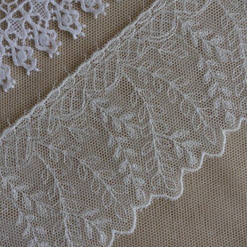 綿刺繍チュール 7cm幅