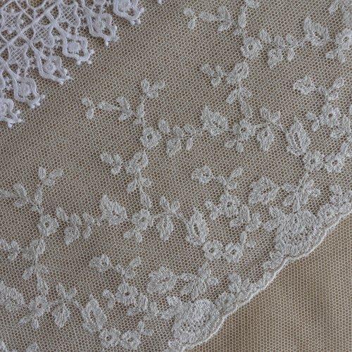 綿刺繍チュール 15cm幅