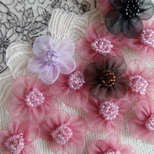 モチーフ オーガンジー お花