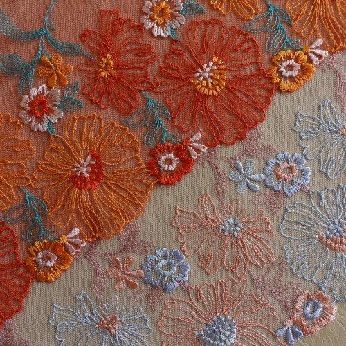 刺繍チュール 23cm幅